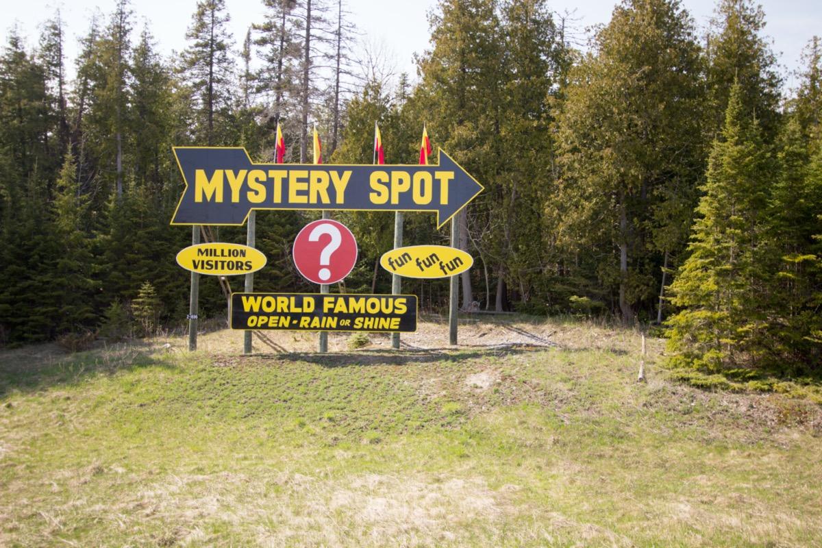 st. ignace mystery spot sign