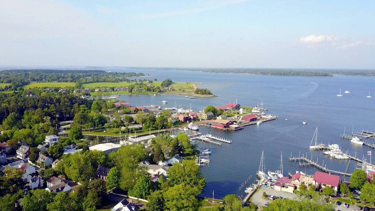 aerial view st michaels maryland