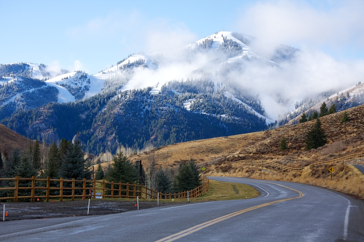 view of sun valley idaho mountain range