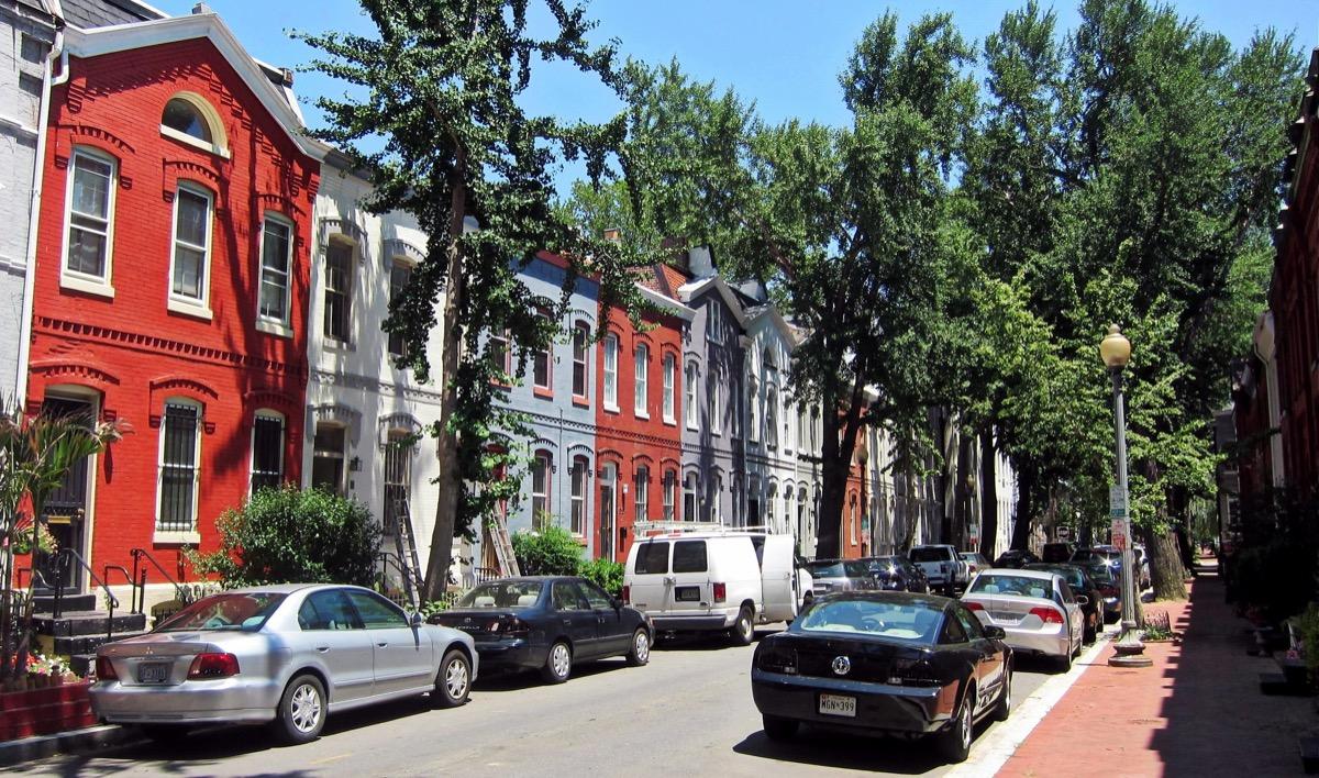 swann street washington dc with italianate row houses