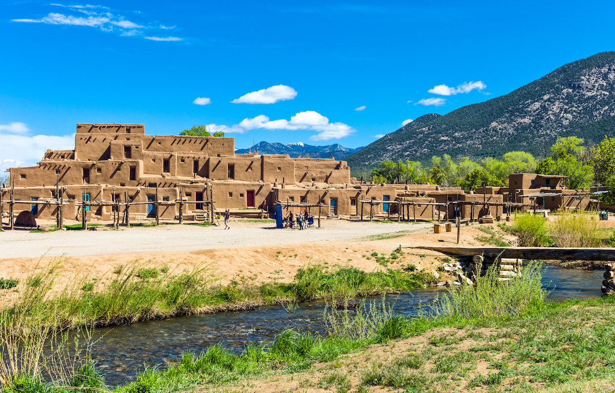 the native pueblo in Taos New Mexico