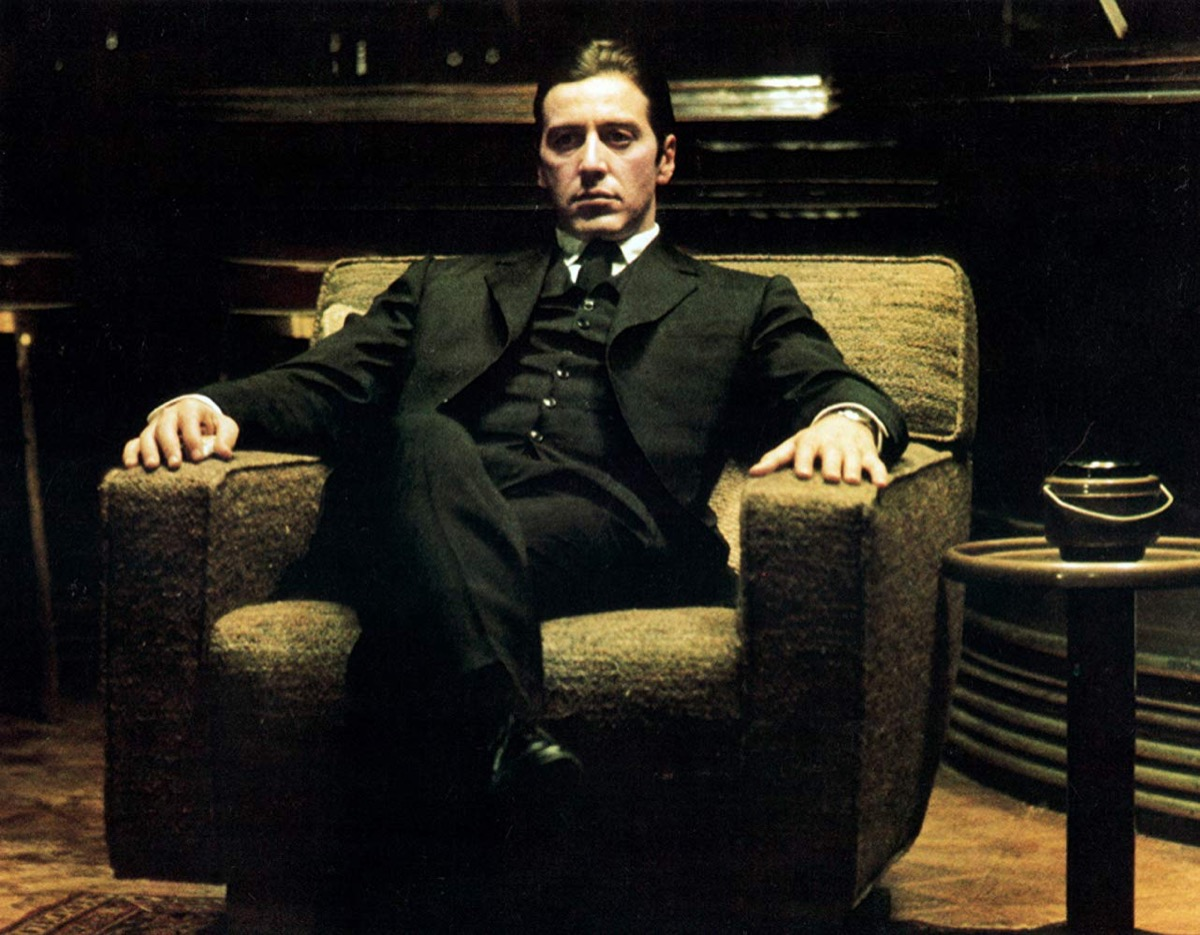 Al Pacino on the set of The Godfather Part II