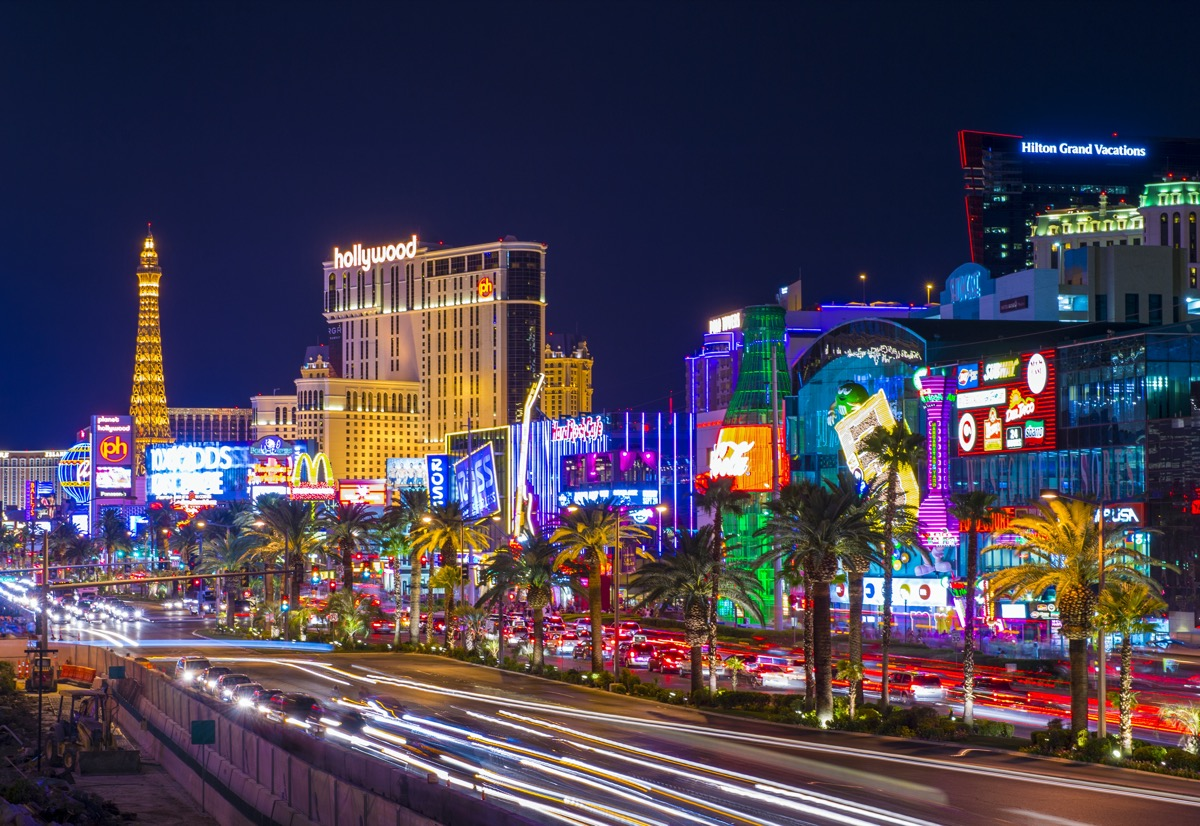overview of the las vegas strip