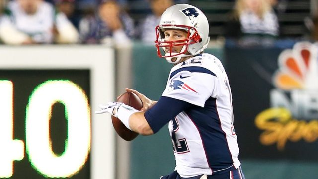 Tom Brady playing with the New England Patriots in 2012