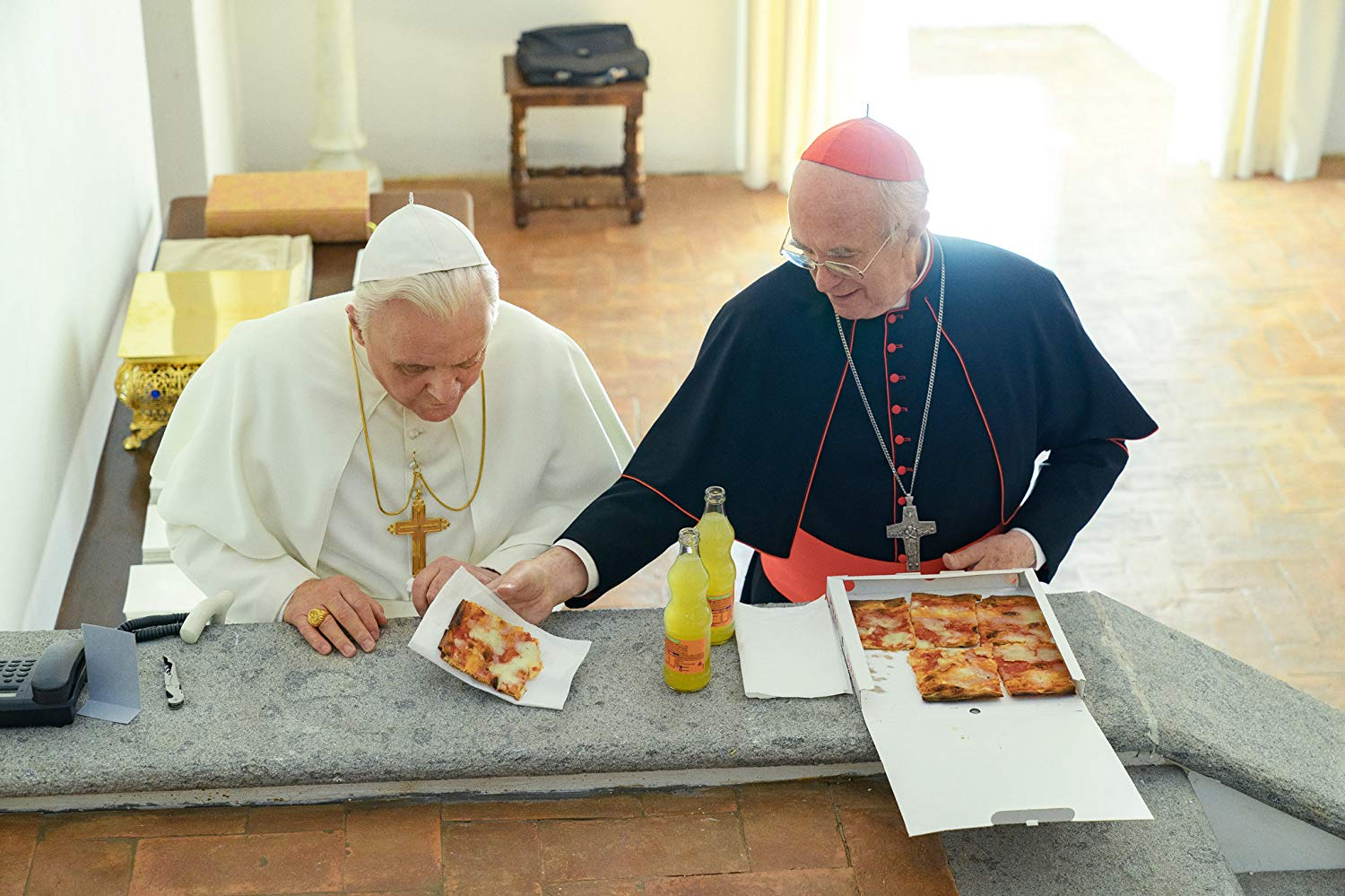 Still from movie Two Popes