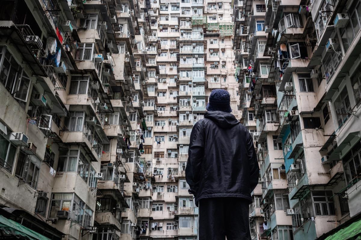 urban landscape off hong kong