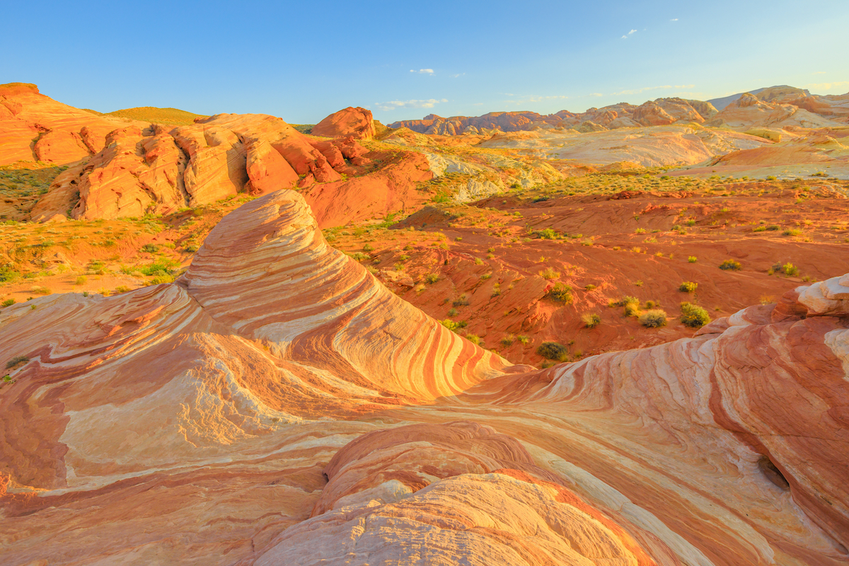 striped landscape of valley of fire state park