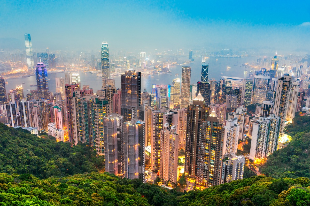 overview of hong kong from the victoria peak