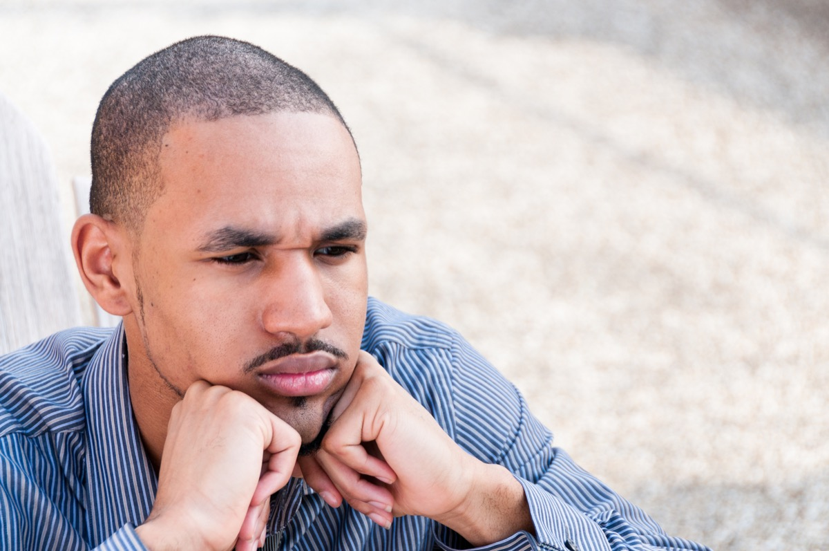 worried man outdoors