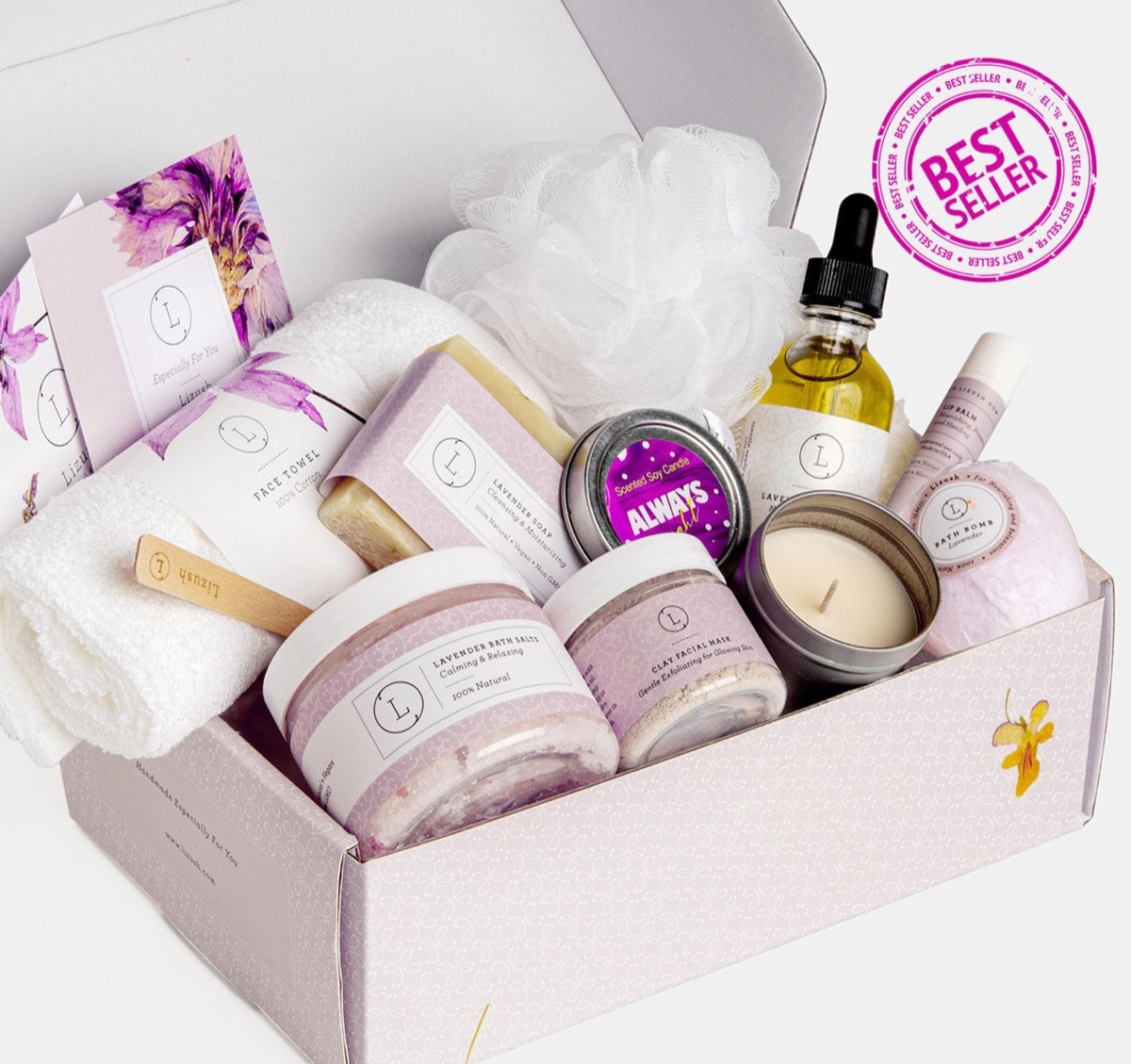 gift box of bath products