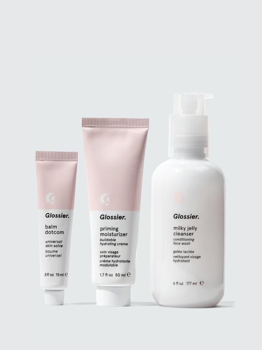 set of three glossier products