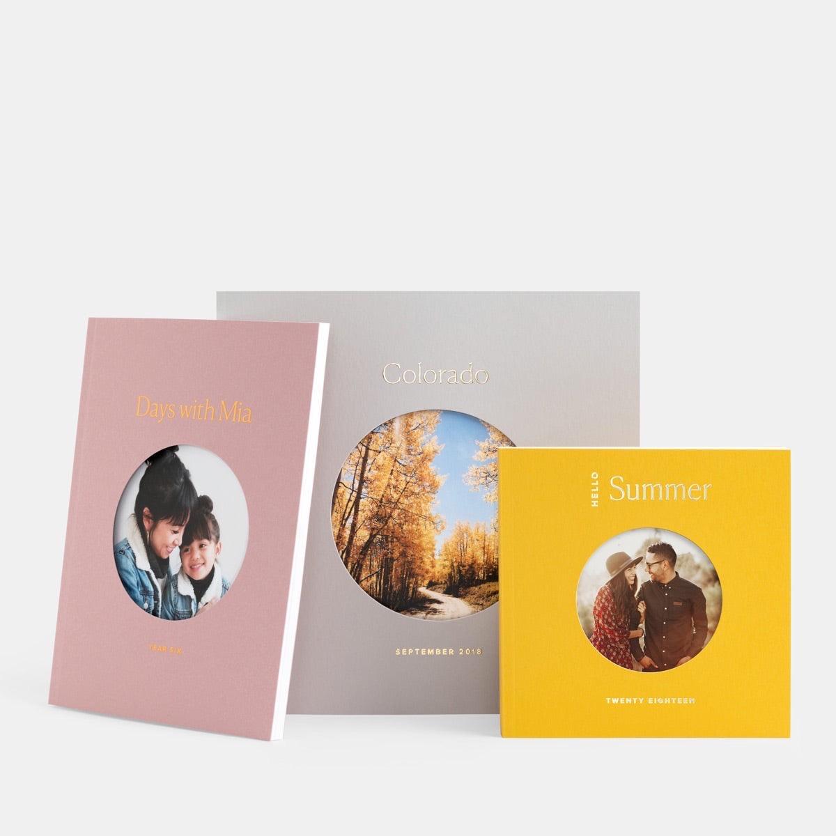 three photo books