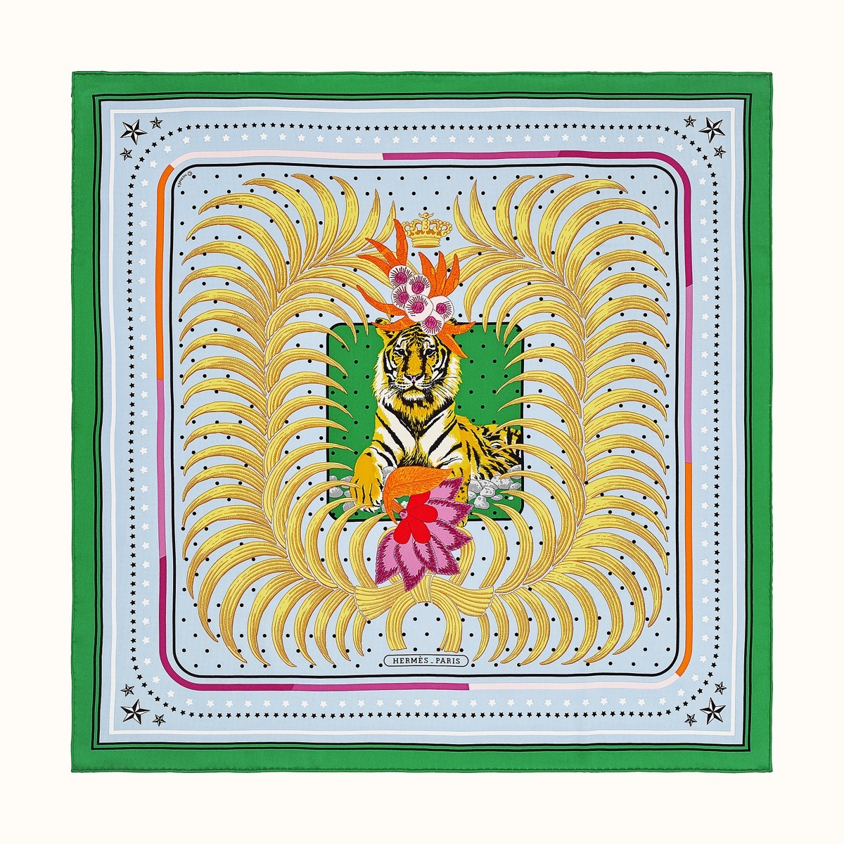 green and gold hermes scarves