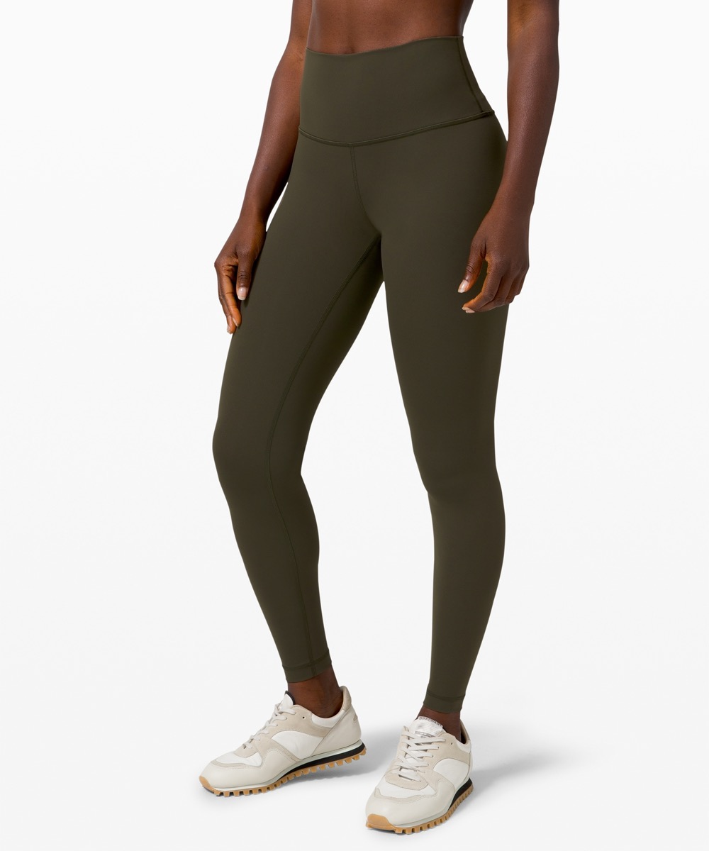 woman in brown leggings