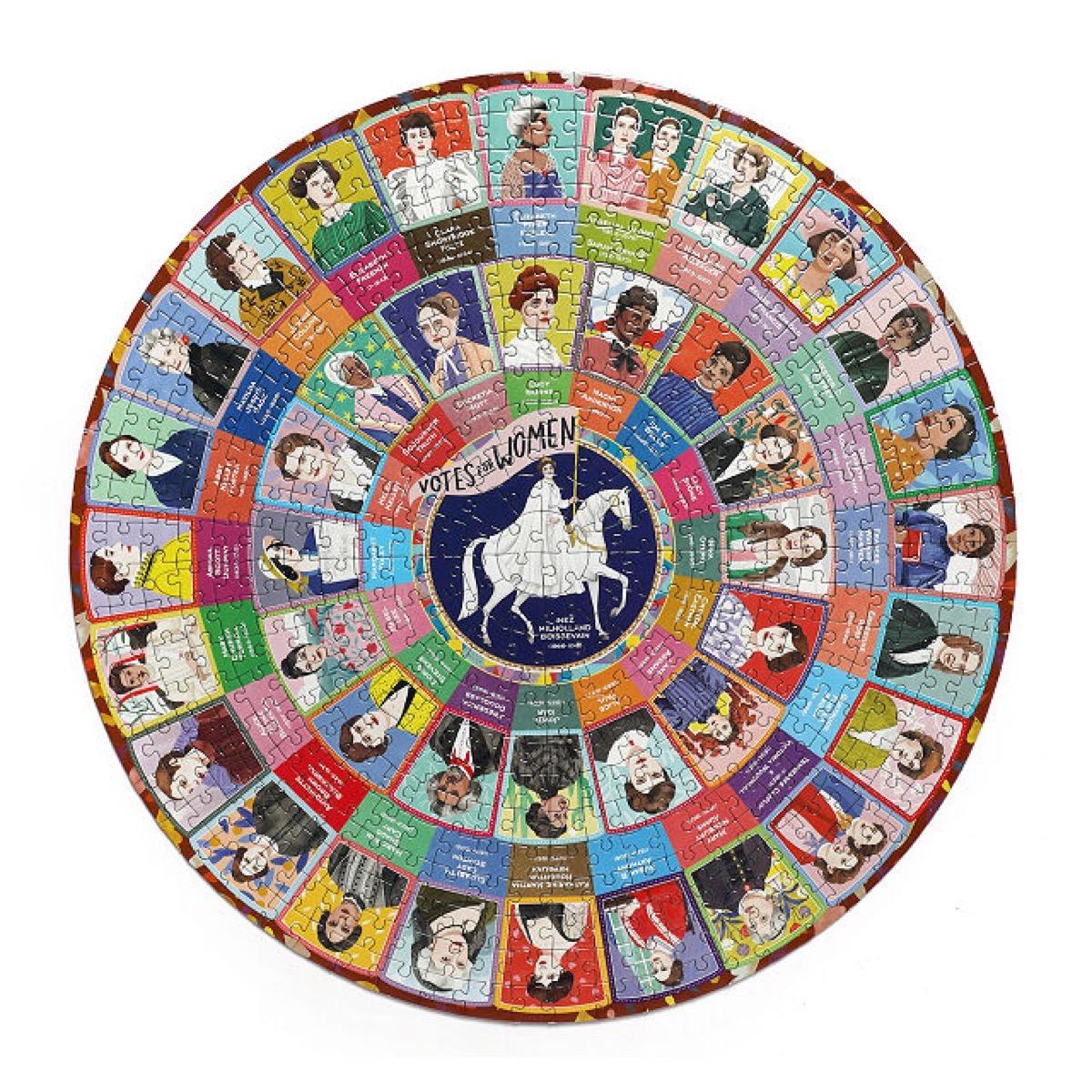 round suffragette puzzle