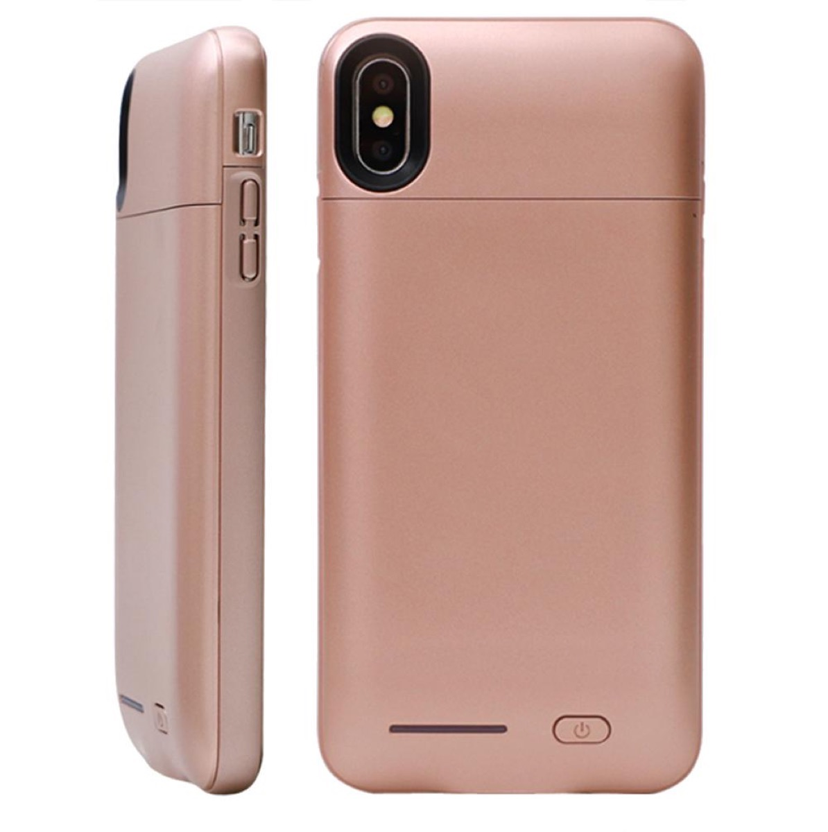 rose gold phone charging case