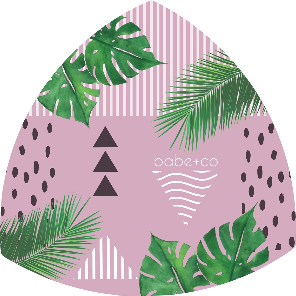 pink and black and green yoga mat