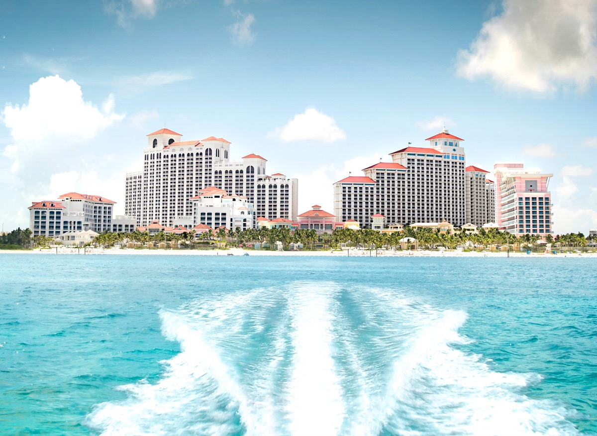 view of the baha mar resort from the water