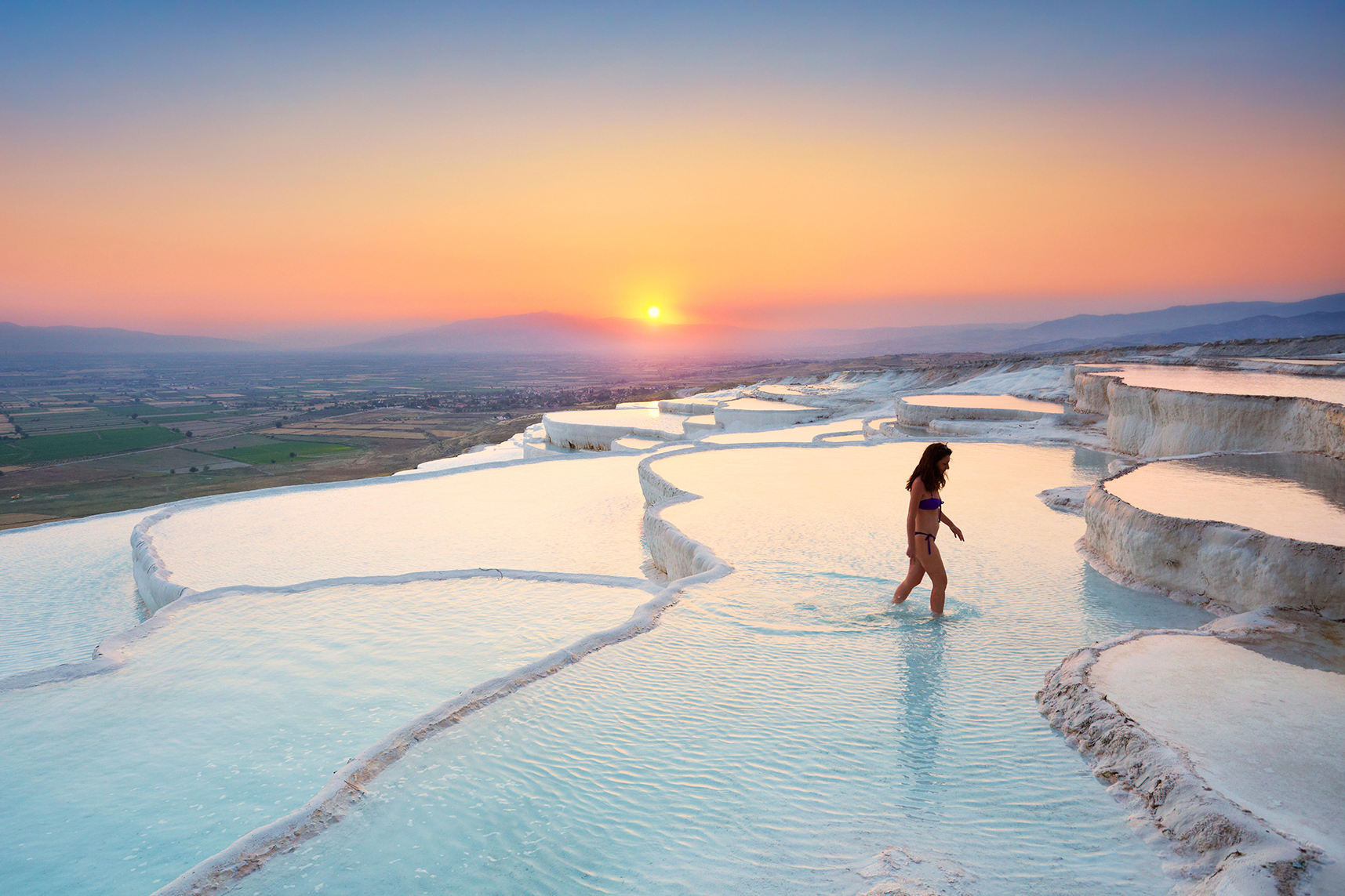 natural hotsprings in Turkey travel photos