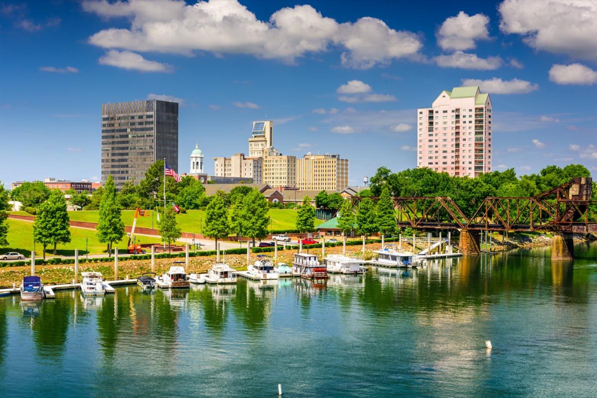 Downtown skyline savannah river augusta Georgia
