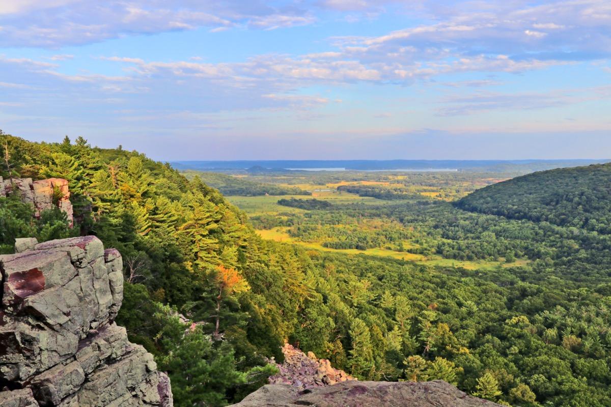 overview of baraboo wilderness Wisconsin