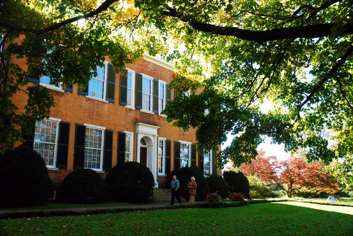 Federal Hill building in the state park of bardstown kentucky