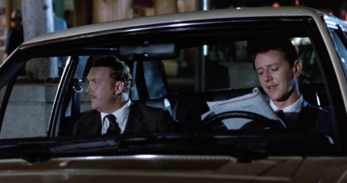 beverly hills cop movie scene with undigested red mat