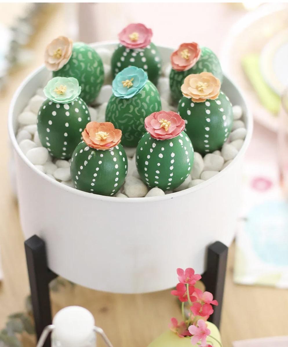Cactus Easter egg centerpeice