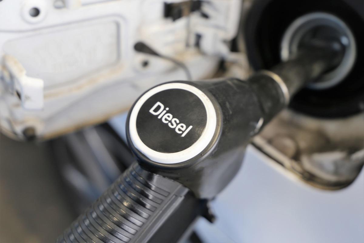 refuel with diesel fuel pump