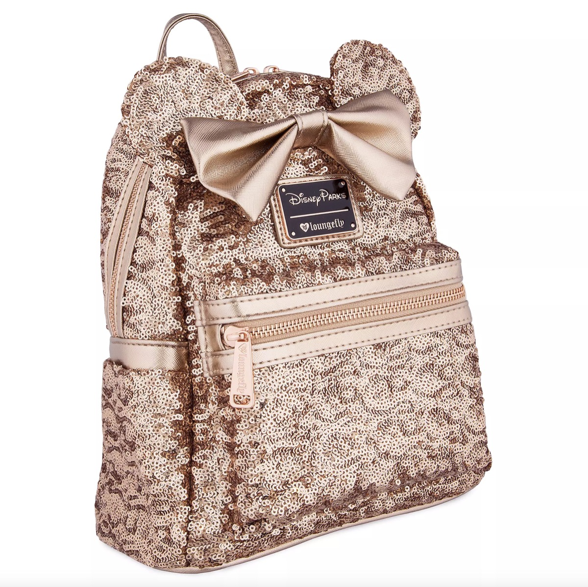 Minnie mouse rose gold glitter backpack
