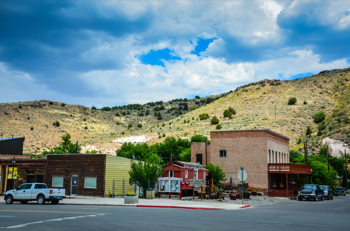 historic buildings in the lonely city of Eureka Nevada