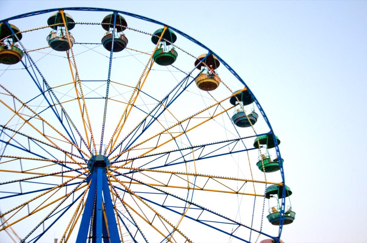 ride the Ferris wheel, selective focus
