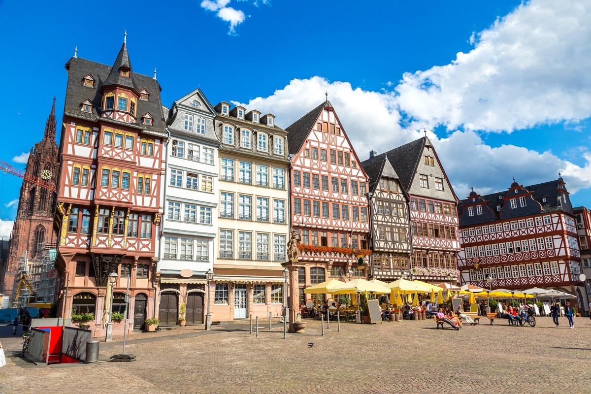 frankfurt germany colorful buildings