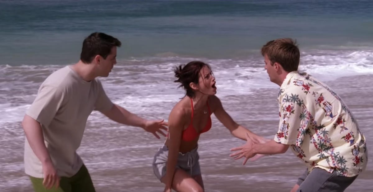 friends episode where monica gets stung by a jellyfish