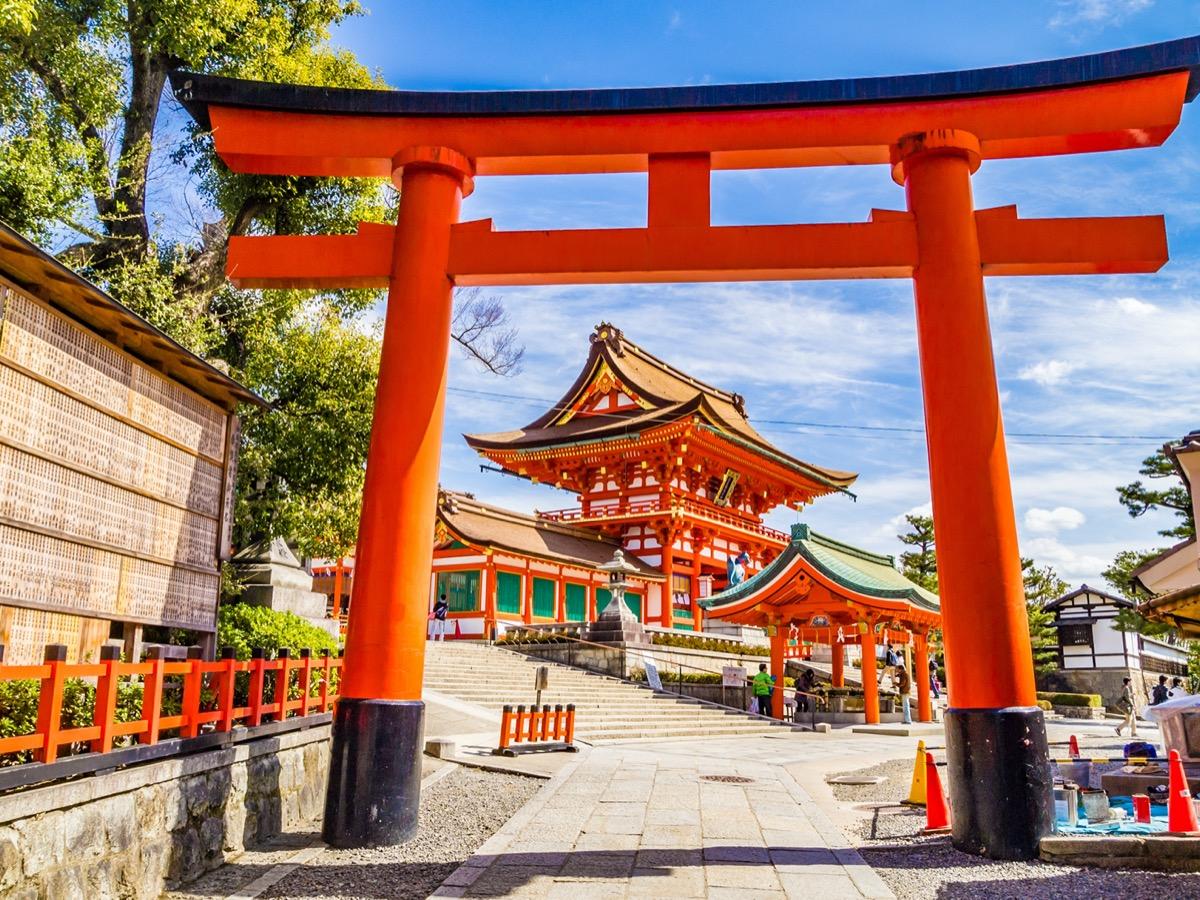 entrance to the inari shrine kyoto