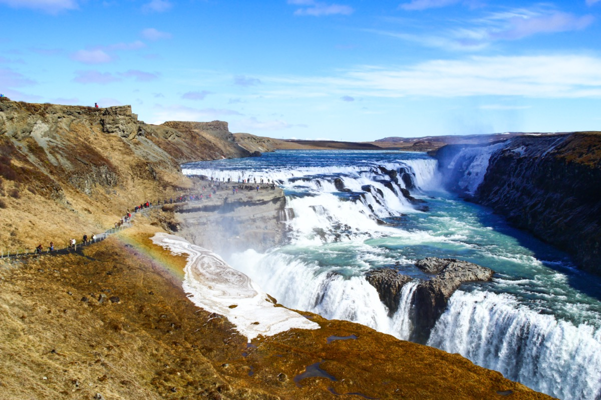 gulfoss waterfalls iceland