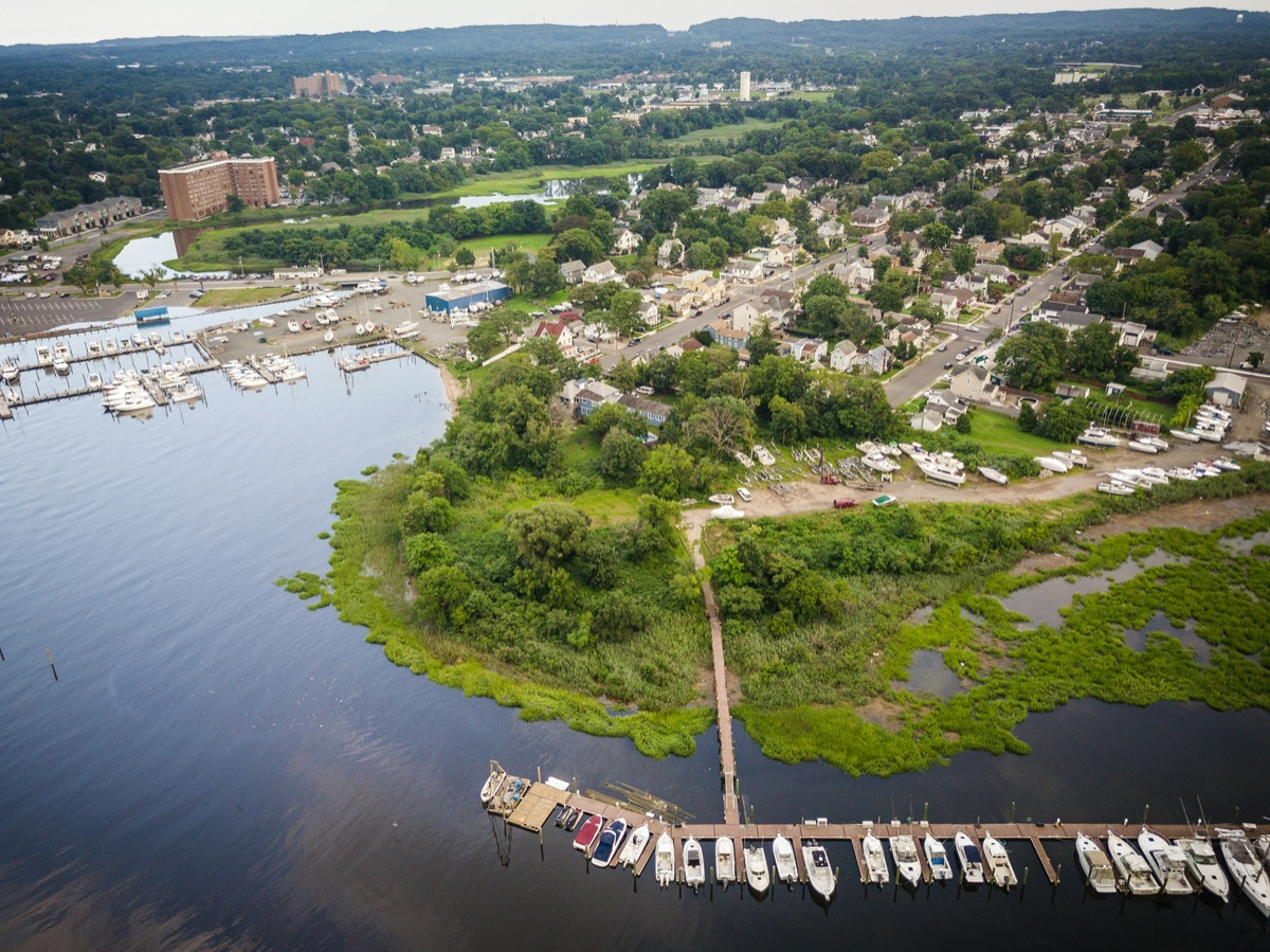 aerial view of Keyport New Jersey