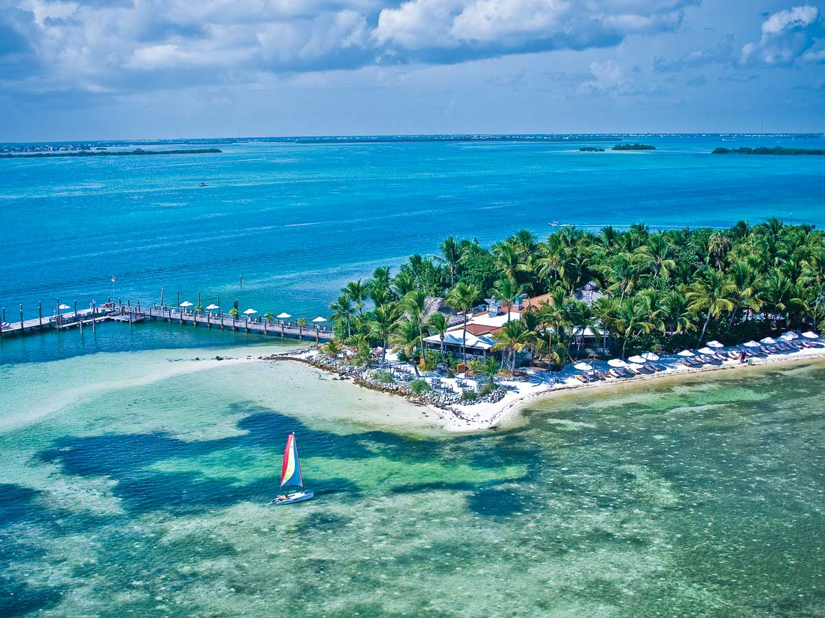 aerial view of little torch key florida