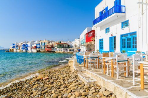 little venice mykonos island greece