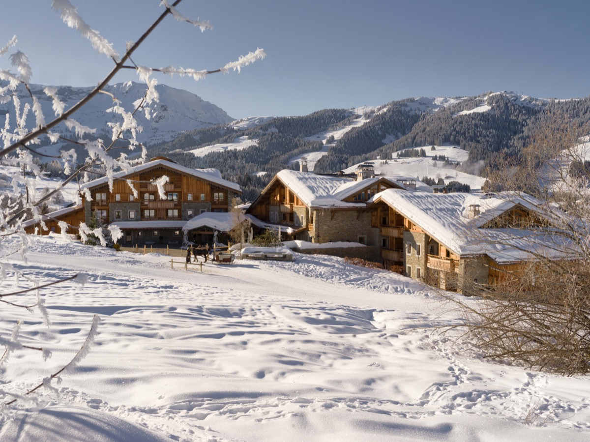 overview of the luxury ski resort in france