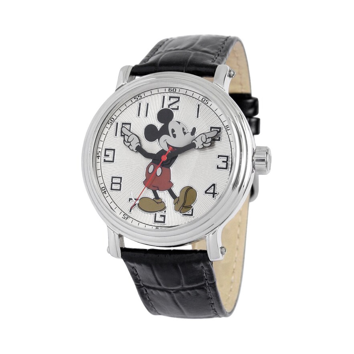 Mickey mouse watch with leather strap