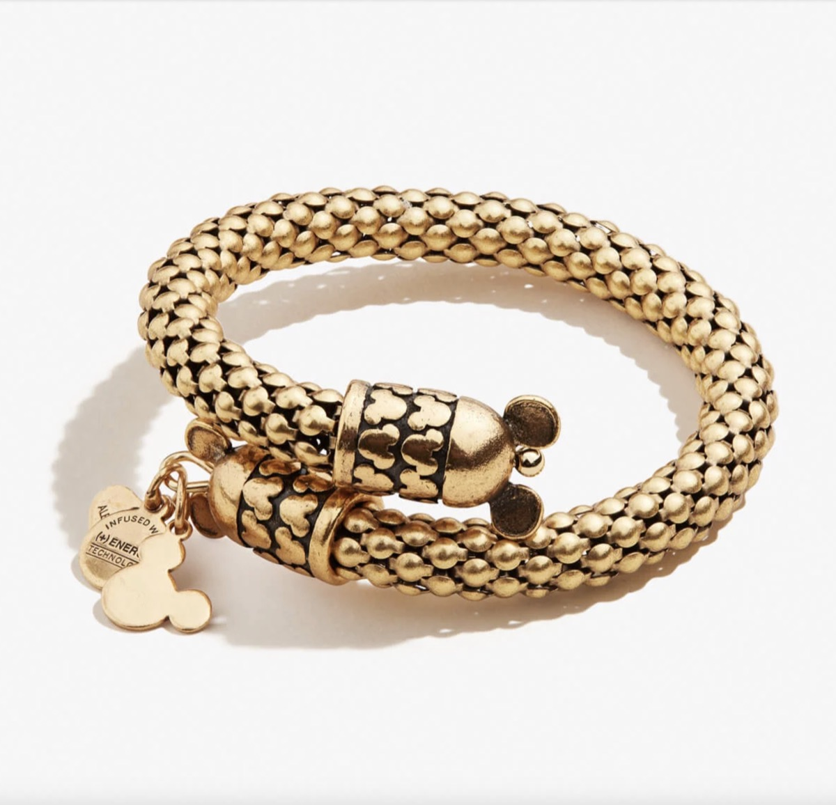 Mickey Mouse gold wrap bracelet