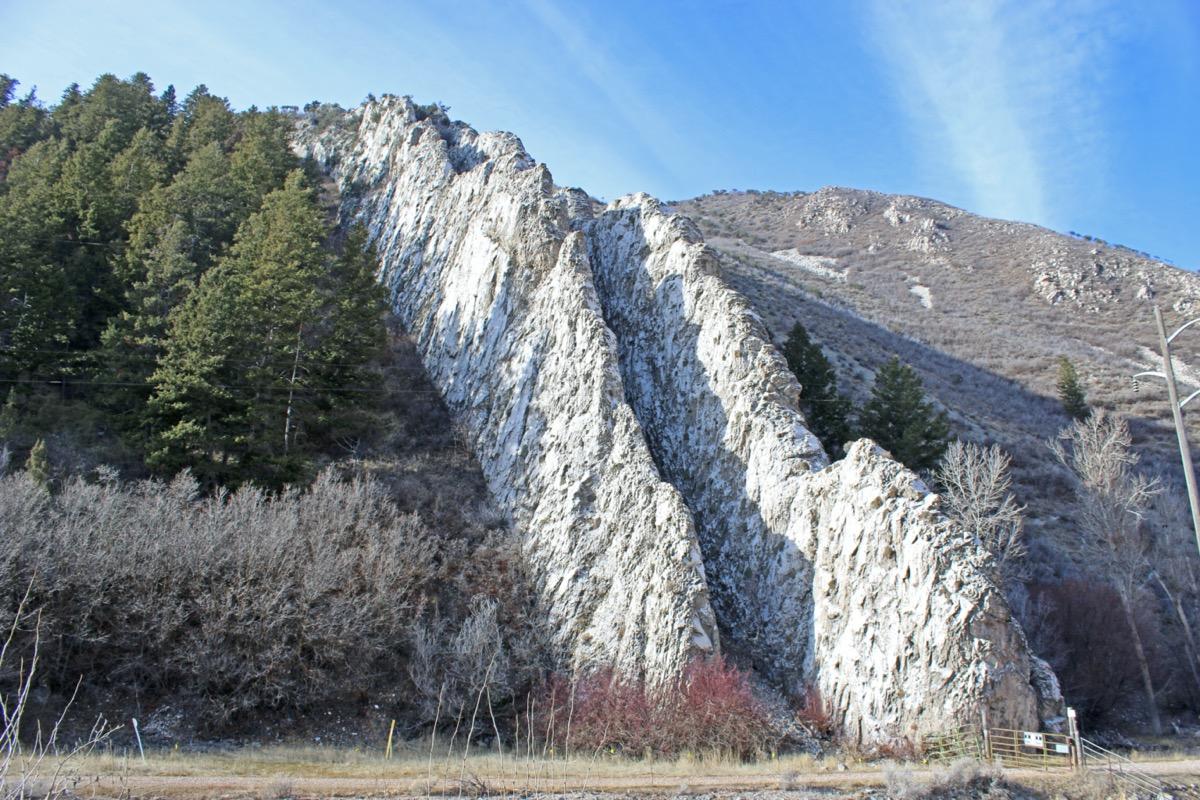 the devil's slide rock formation Morgan County Utah