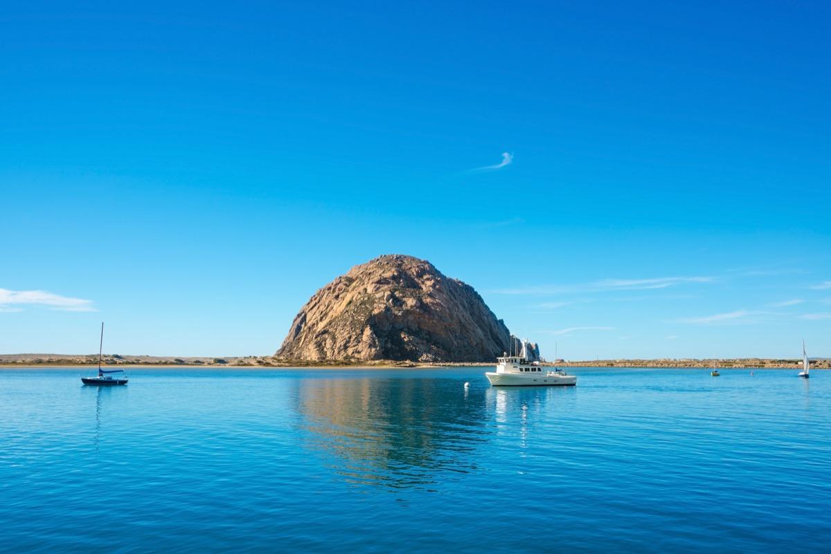 morro bay rock in san luis obispo california