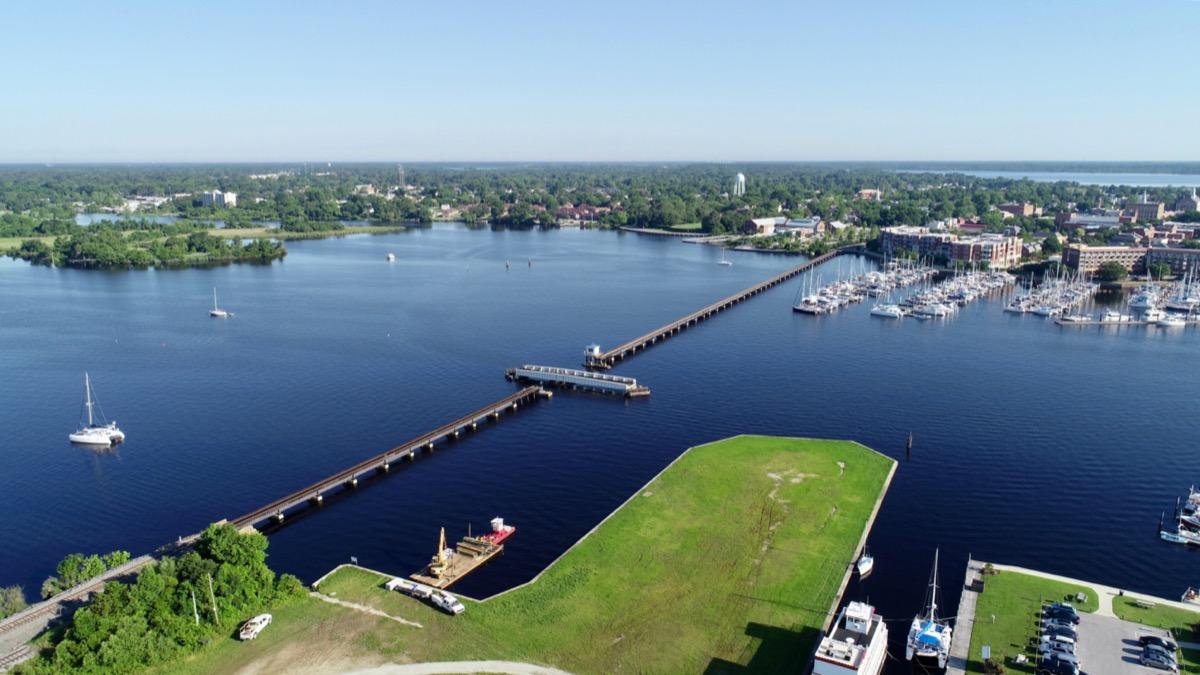 aerial view of new bern North Carolina