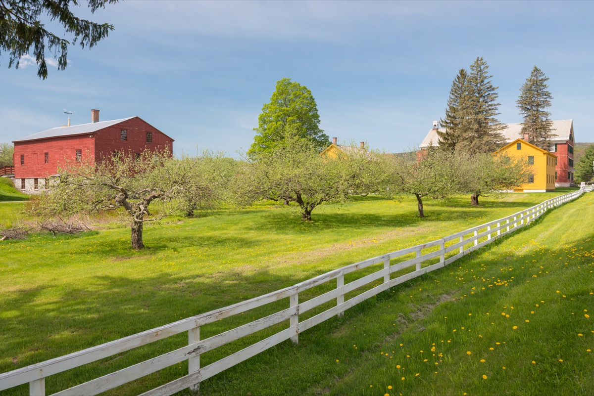 American wooden farms in the North Adams Massachusetts
