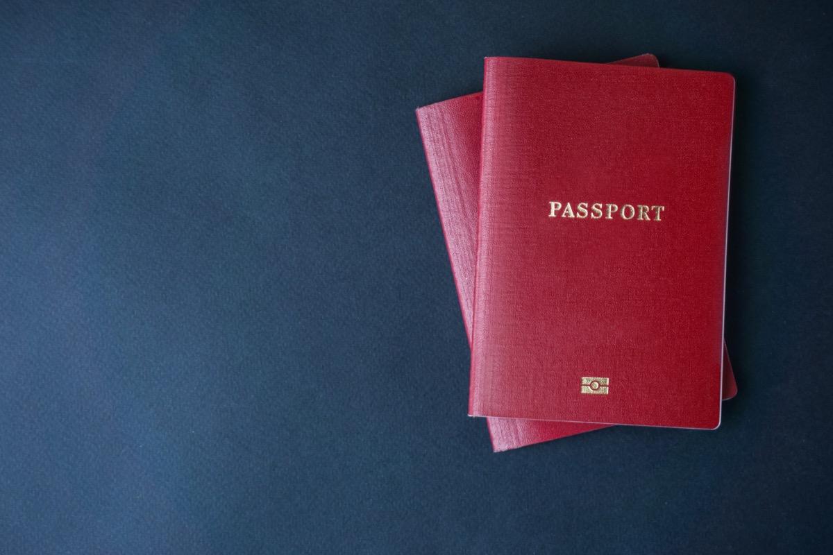 two copies of passport