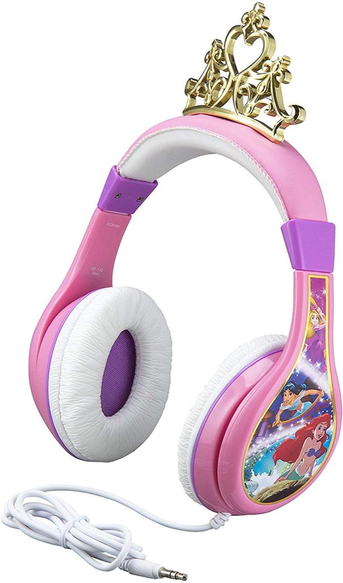 Pink Disney princess headphones