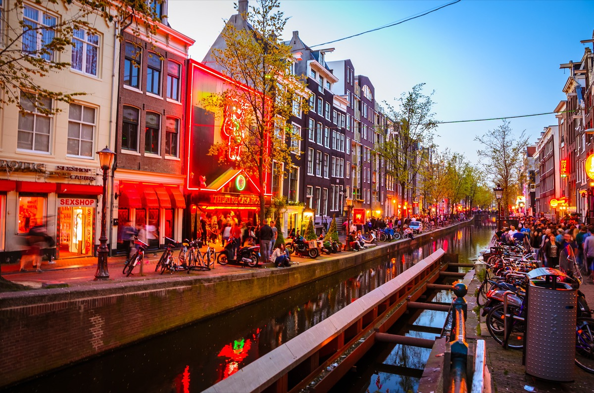 the infamous red light district of amsterdam