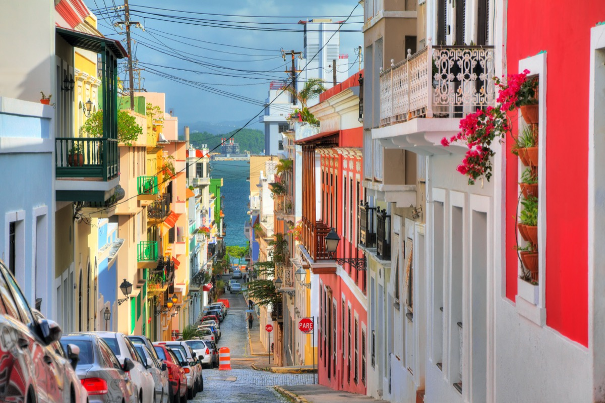 colorful apartment houses in san juan puerto rico